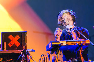 Robert DeLong on stage